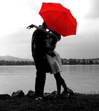 Kiss Red Umbrella